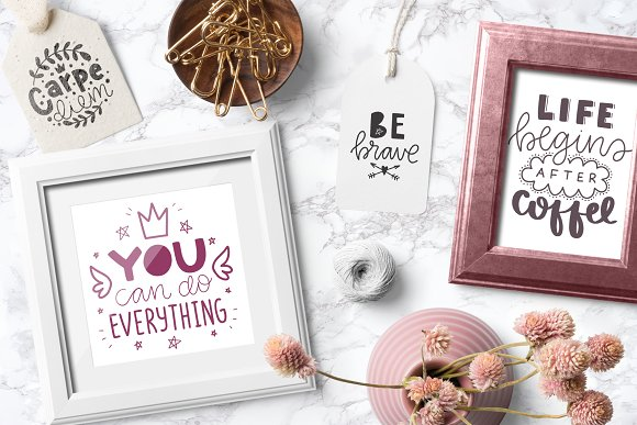 50 Lettering Posters Collection! in Illustrations - product preview 3