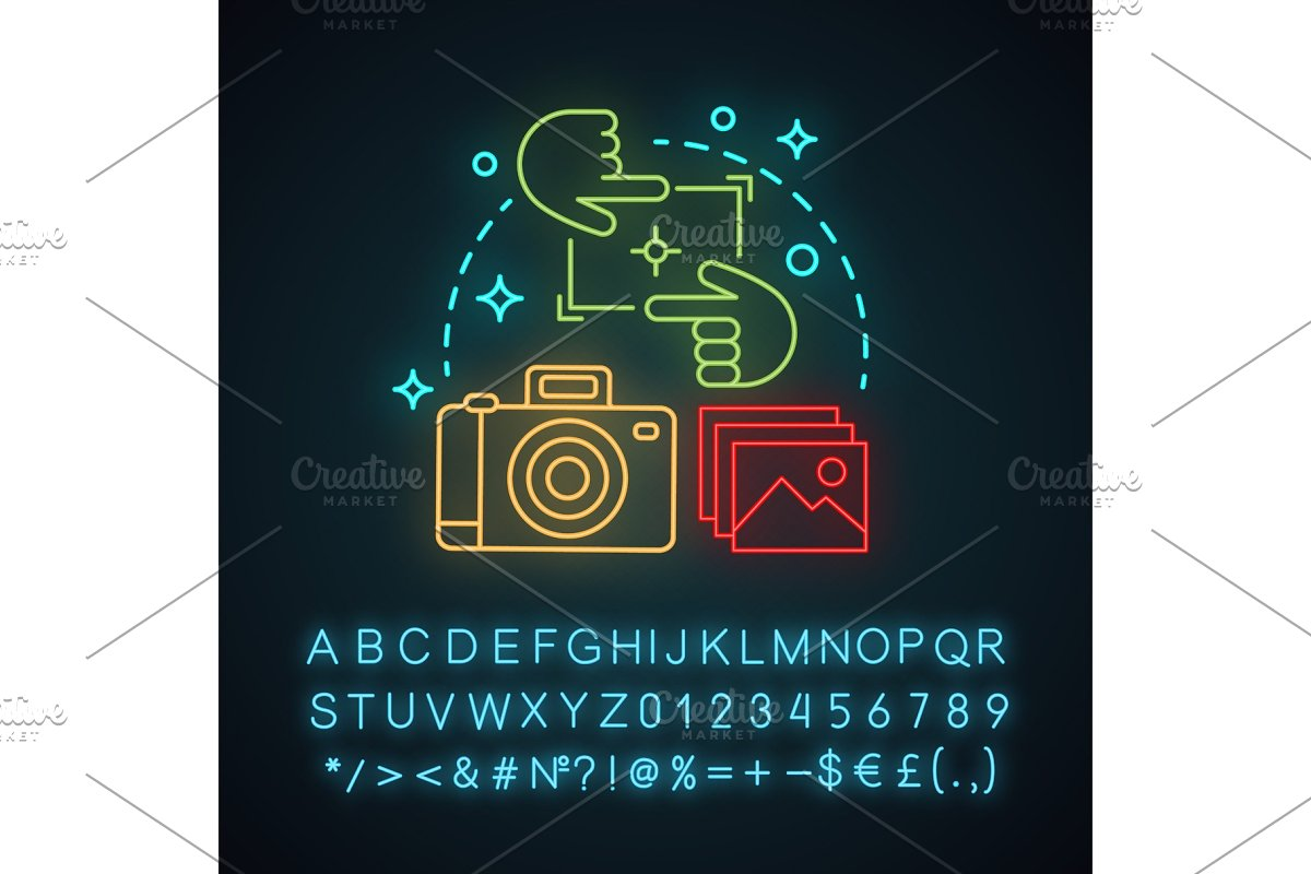 Photography neon light concept icon in Graphics - product preview 8
