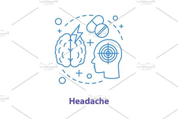 Headache concept icon