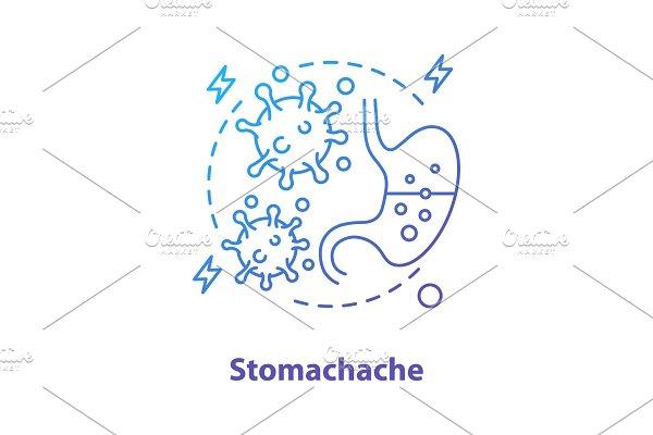 Stomachache concept icon