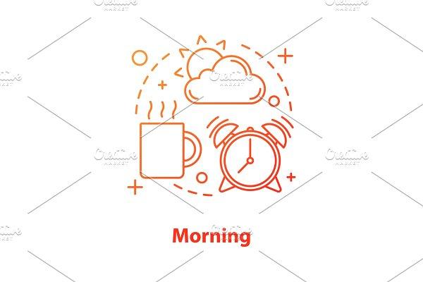 Morning concept icon