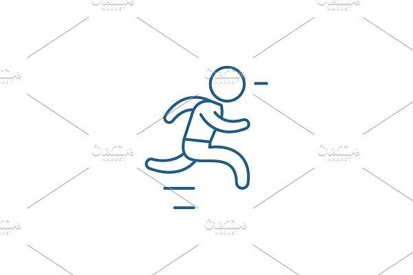Run line icon concept. Run flat