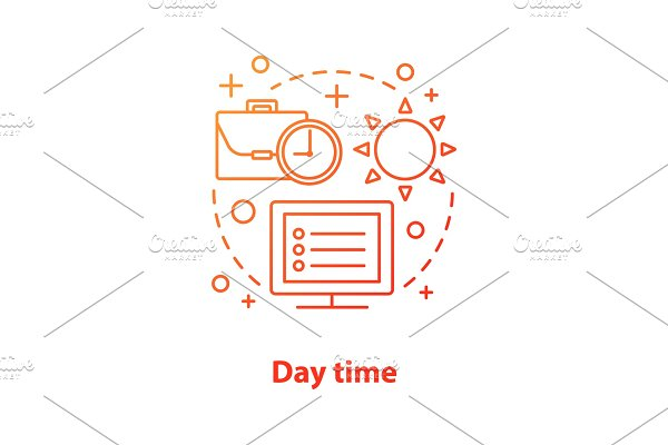 Day time concept icon