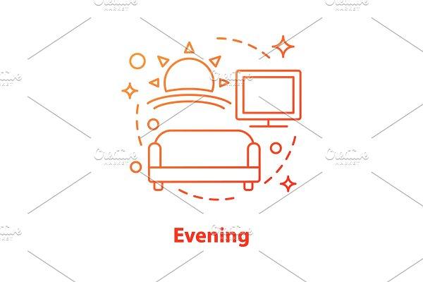 Evening concept icon