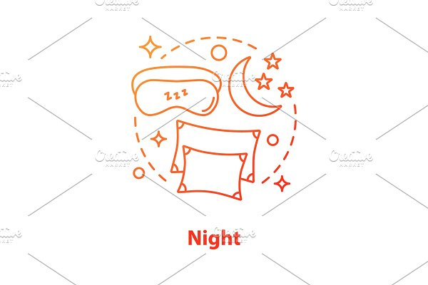 Night concept icon