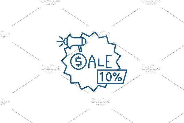 Sales line icon concept. Sales flat