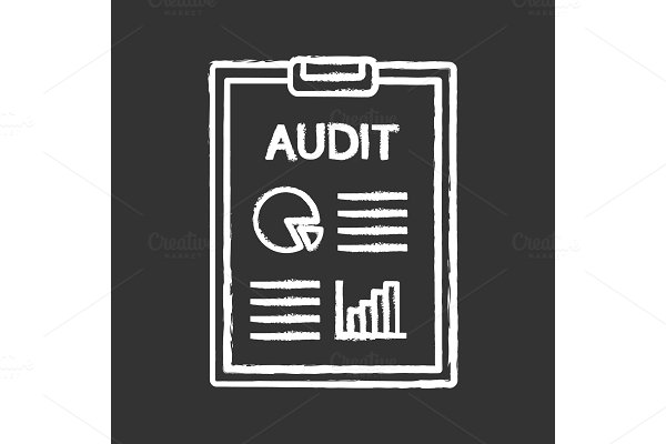 Audit chalk icon
