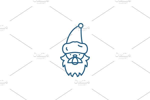 Santa claus line icon concept. Santa