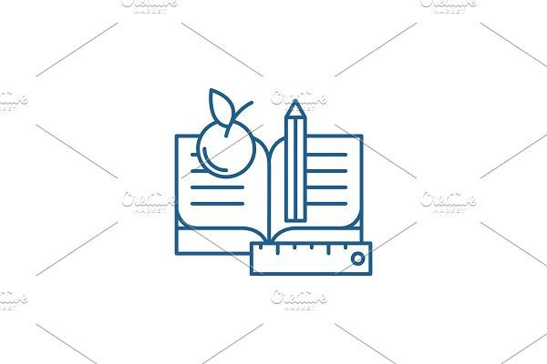 Schooling line icon concept