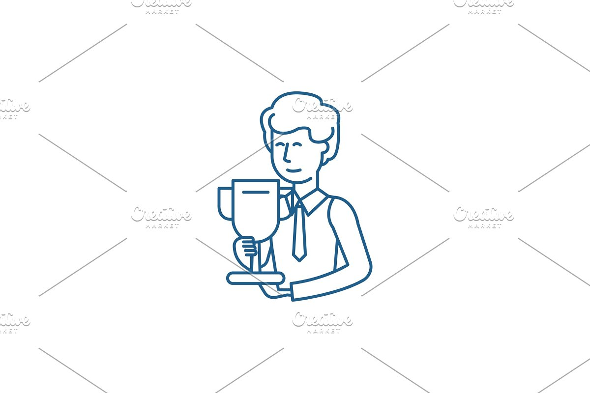 Science grant line icon concept in Illustrations - product preview 8