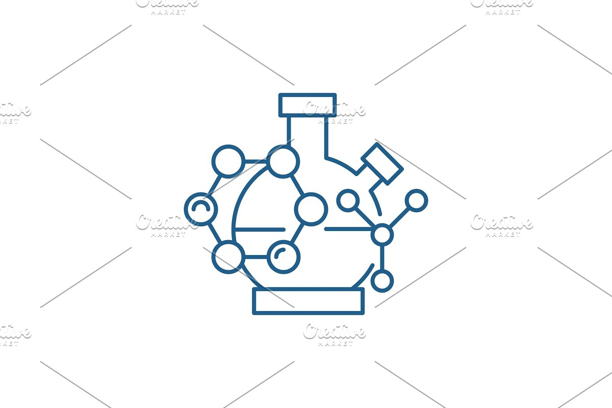 Scientific research line icon in Illustrations - product preview 8