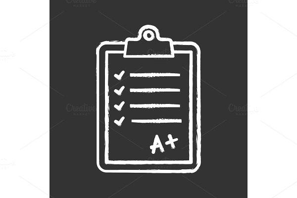 Language test chalk icon