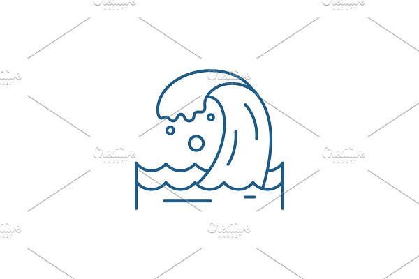 Sea wave line icon concept. Sea wave