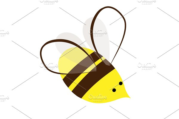 Cute and Busy Honey Bee. Logo or