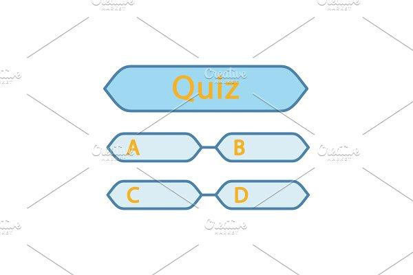 Quiz question color icon