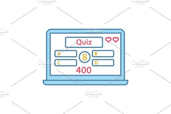 Online quiz color icon