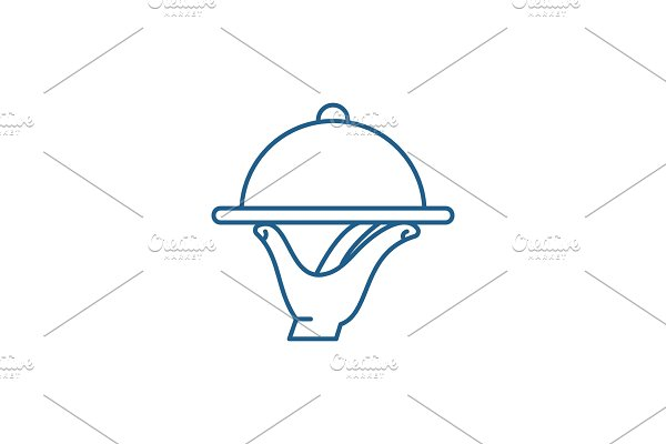 Service line icon concept. Service