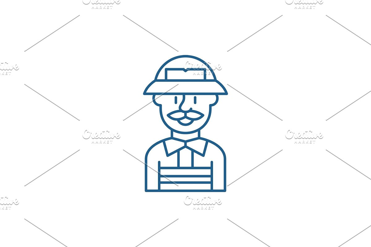 Service engineer line icon concept in Illustrations - product preview 8