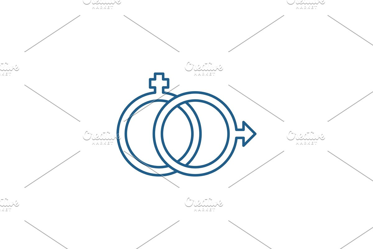 Sexology line icon concept. Sexology in Objects - product preview 8