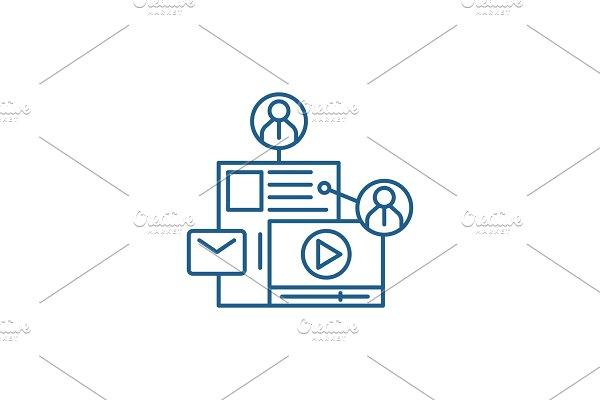 Share content line icon concept