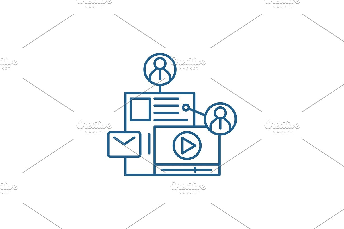 Share content line icon concept in Illustrations - product preview 8