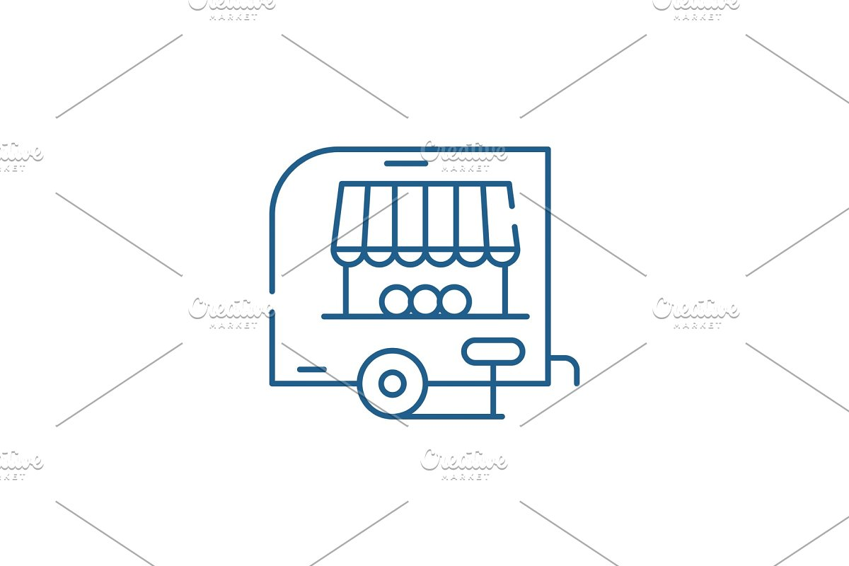 Shop pickup line icon concept. Shop in Illustrations - product preview 8