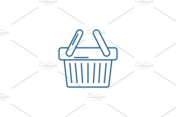 Shopping cart line icon concept