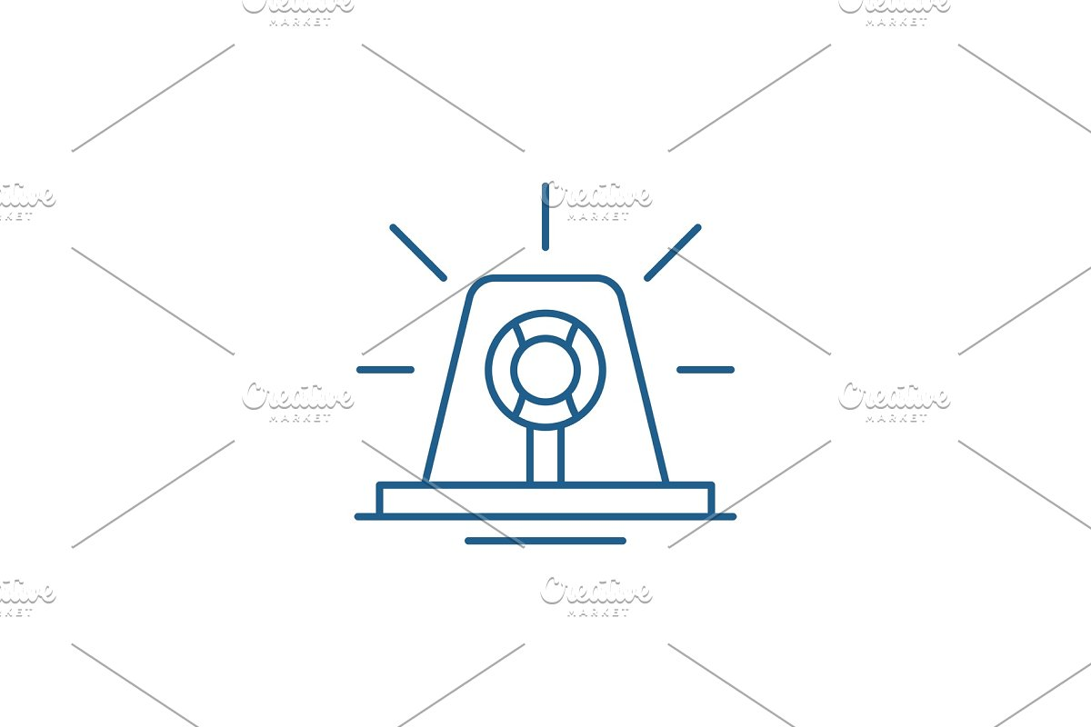 Signal light line icon concept in Illustrations - product preview 8