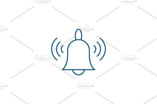 Signaling line icon concept