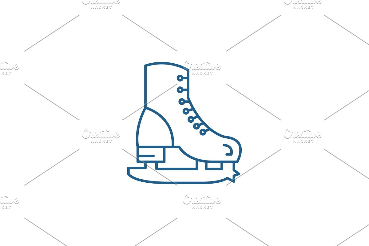 Skates line icon concept. Skates in Illustrations - product preview 8