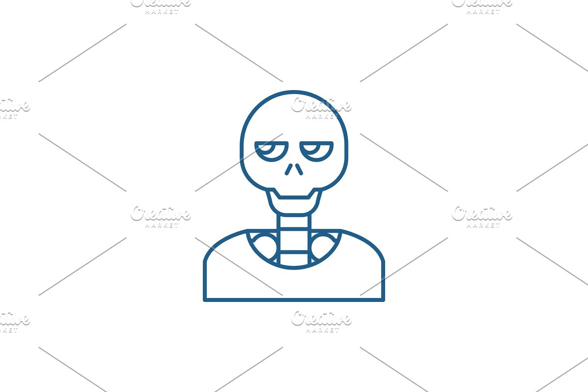 Skeleton line icon concept. Skeleton in Illustrations - product preview 8