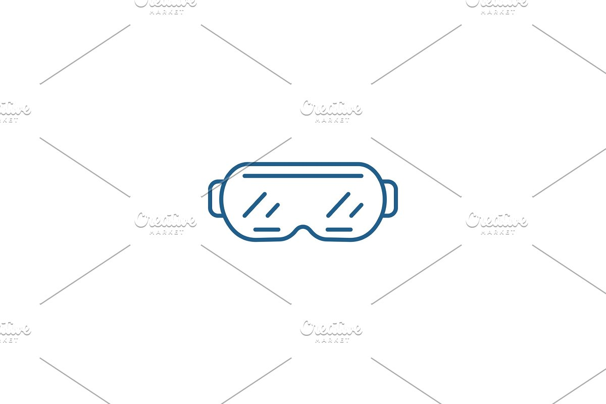 Ski goggles line icon concept. Ski in Illustrations - product preview 8