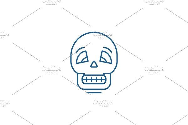 Skull line icon concept. Skull flat