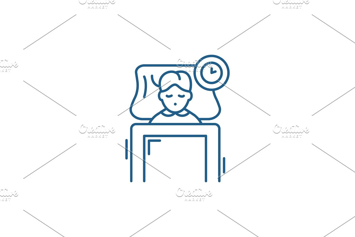 Sleep line icon concept. Sleep flat in Illustrations - product preview 8