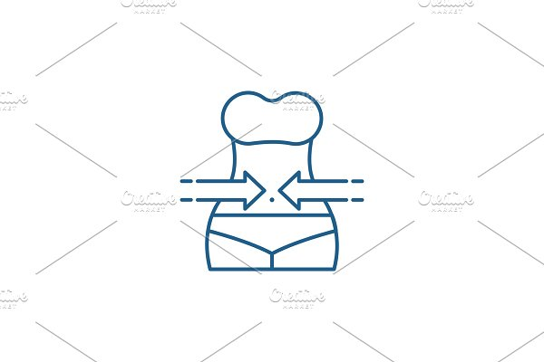 Slimming line icon concept. Slimming