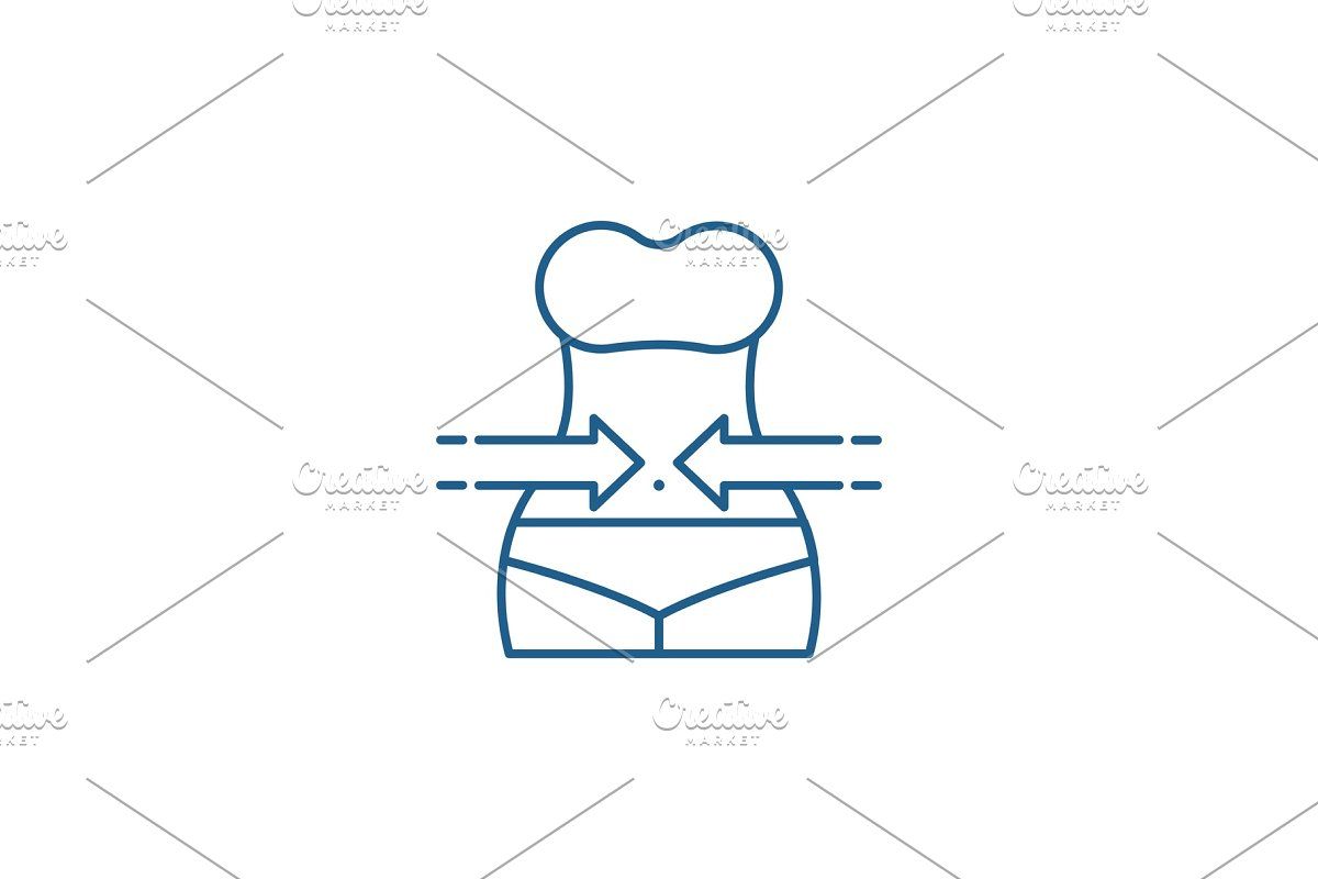 Slimming line icon concept. Slimming in Illustrations - product preview 8