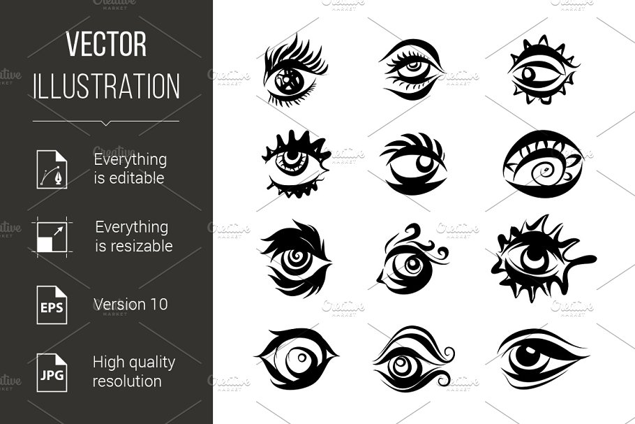 Eyes Icons in Graphics - product preview 8