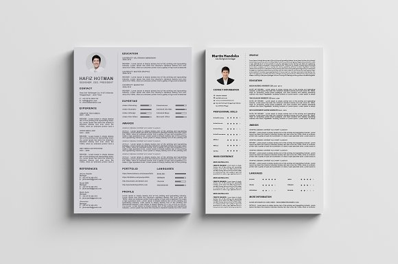 clean and professional cv resumes resume templates creative