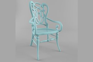 Carved classis style chair
