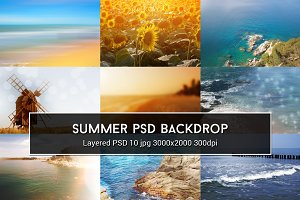 Summer PSD Backdrop