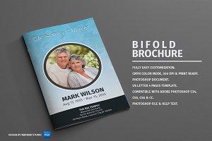 Funeral Program Template - Bi-Fold