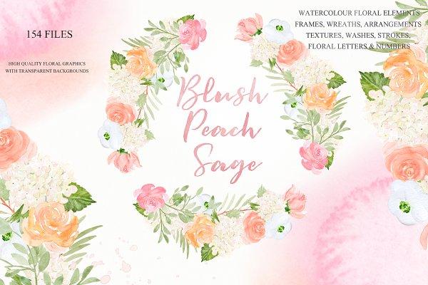 Blush Peach Sage flowers