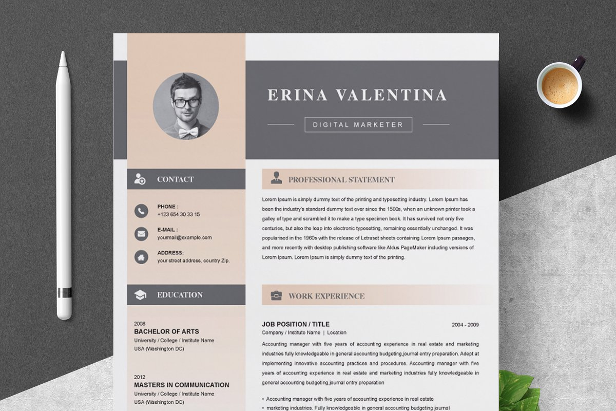 Resume Cv With Cover Letter Cover Letter Templates