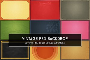 Vintage PSD Backdrop