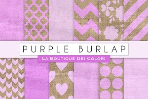 Burple Burlap Digital Textures