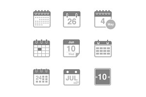9 Calendar and Date Icons
