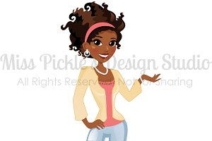 Fashion Girl 001- Character Graphic