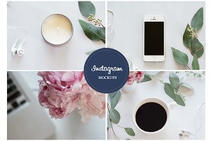 Stock Photo Peonies & Phone Mockups