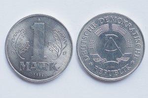 One mark coin