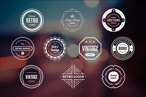 10 Retro Badges Vol. 13
